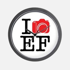 I Shoot EF (Canon) Love Photography Wall Clock