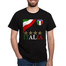 Italia 4 star Italian T-Shirt