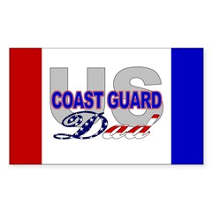 USCG Dad Rectangle Decal