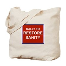 Rally to restore sanity Tote Bag
