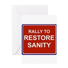 Rally to restore sanity Greeting Card