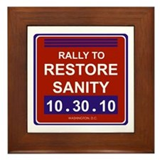 Cool Rally to restore sanity Framed Tile
