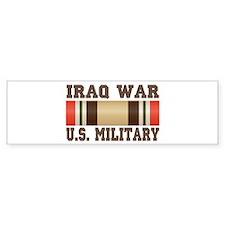 Iraq War Service Ribbon Bumper Sticker