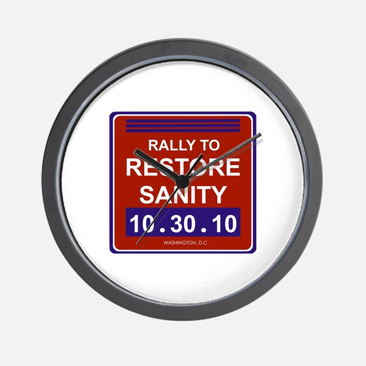 Cute Rally to restore sanity Wall Clock
