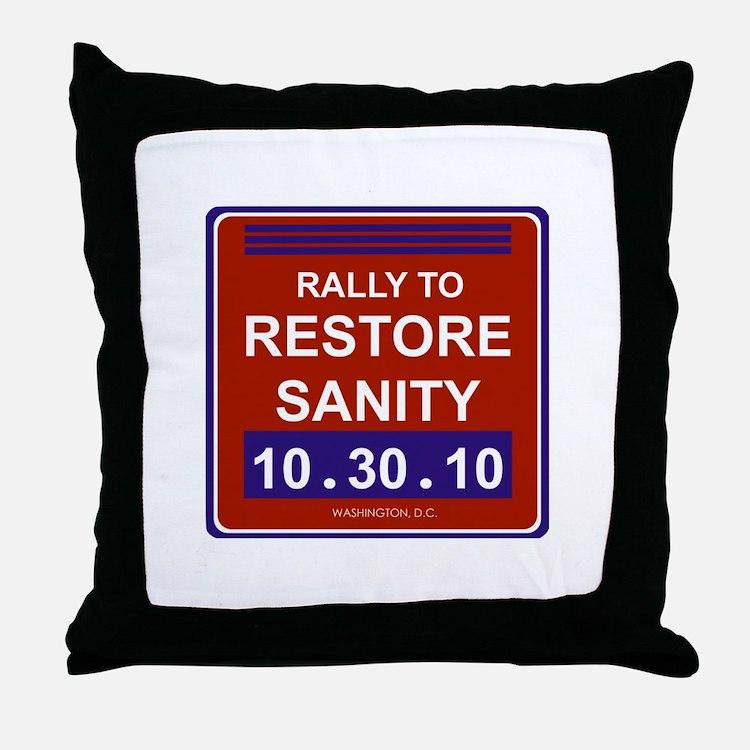 Cute Restore sanity Throw Pillow