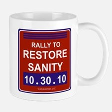 rallytorestoresanityblack Mugs