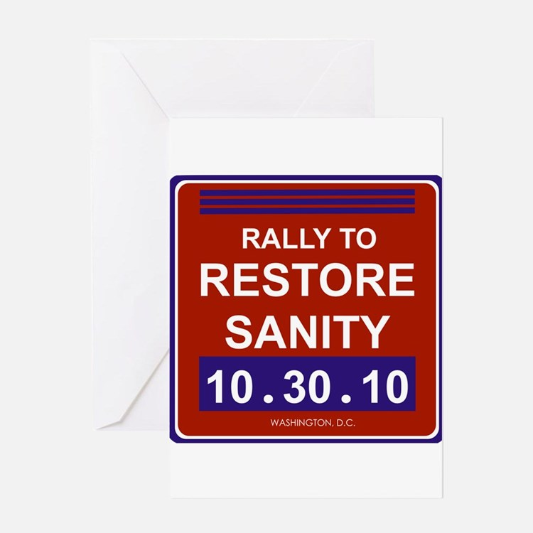Cute Rally to restore sanity Greeting Card