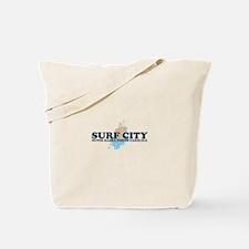Surf City NC - Seashells Design Tote Bag