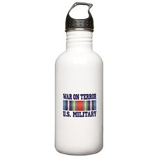War On Terror Service Ribbon Water Bottle