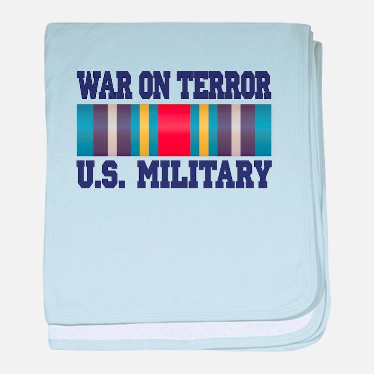 War On Terror Service Ribbon baby blanket