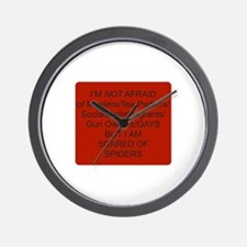Funny Keep fear alive Wall Clock