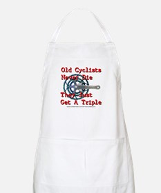 Old Cyclists Never Die Apron