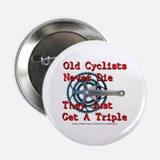 """Old Cyclists Never Die 2.25"""" Button"""