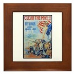 Clear the Way Poster Art Framed Tile