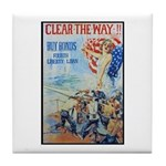 Clear the Way Poster Art Tile Coaster