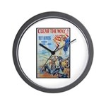 Clear the Way Poster Art Wall Clock