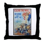 Clear the Way Poster Art Throw Pillow
