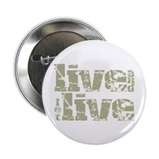 """Live And Let Live 2.25"""" Button"""