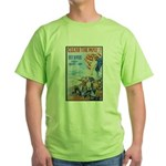 Clear the Way Poster Art (Front) Green T-Shirt