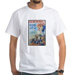 Clear the Way Poster Art (Front) White T-Shirt
