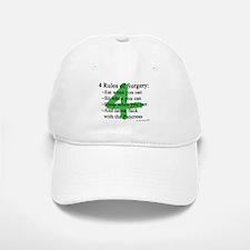 4 Rules of Surgery Baseball Baseball Cap