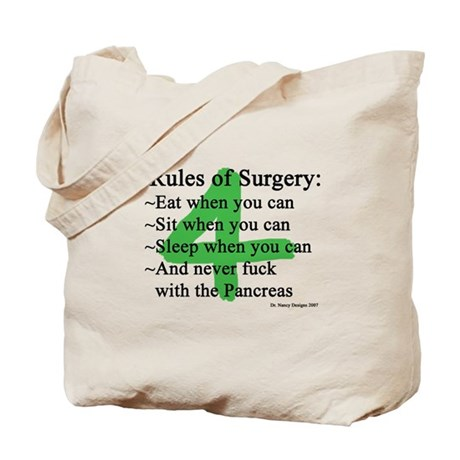 4 Rules of Surgery Tote Bag
