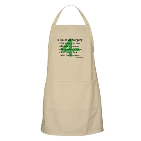 4 Rules of Surgery Apron