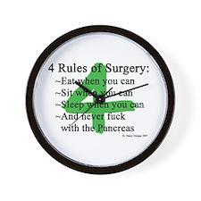 4 Rules of Surgery Wall Clock