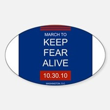 Unique Keep fear alive Sticker (Oval)