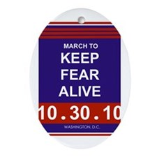 Cool Keep fear alive Ornament (Oval)