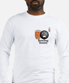 Bowling Stones Logo 10 Long Sleeve T-Shirt Design