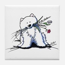 Cutie Pie Sam Tile Coaster