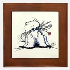 Cutie Pie Sam Framed Tile