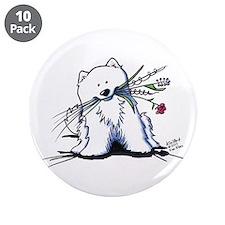 """Cutie Pie Sam 3.5"""" Button (10 pack)"""