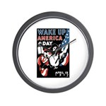Wake Up America Day Wall Clock