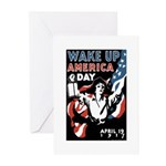Wake Up America Day Greeting Cards (Pk of 10)