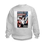 Wake Up America Day (Front) Kids Sweatshirt