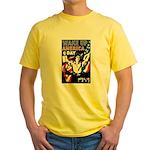 Wake Up America Day (Front) Yellow T-Shirt