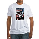 Wake Up America Day (Front) Fitted T-Shirt