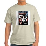 Wake Up America Day (Front) Ash Grey T-Shirt