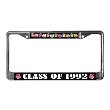 Class of 1992 License Plate Frame