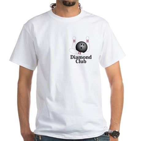 Diamond Club Logo 1 White T-Shirt Design Front Poc
