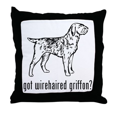 Wirehaired Griffon Throw Pillow