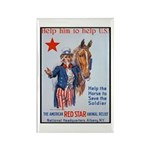 American Red Cross Animal Relief Rectangle Magnet