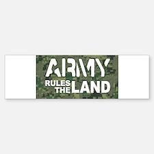 Army Rules Green Camo Bumper Bumper Sticker
