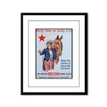 American Red Cross Animal Relief Framed Panel Prin
