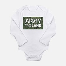 Army Rules Green Camo Long Sleeve Infant Bodysuit