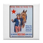 American Red Cross Animal Relief Tile Coaster