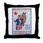 American Red Cross Animal Relief Throw Pillow