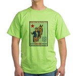 American Red Star Animal Relief (Front) Green T-Sh